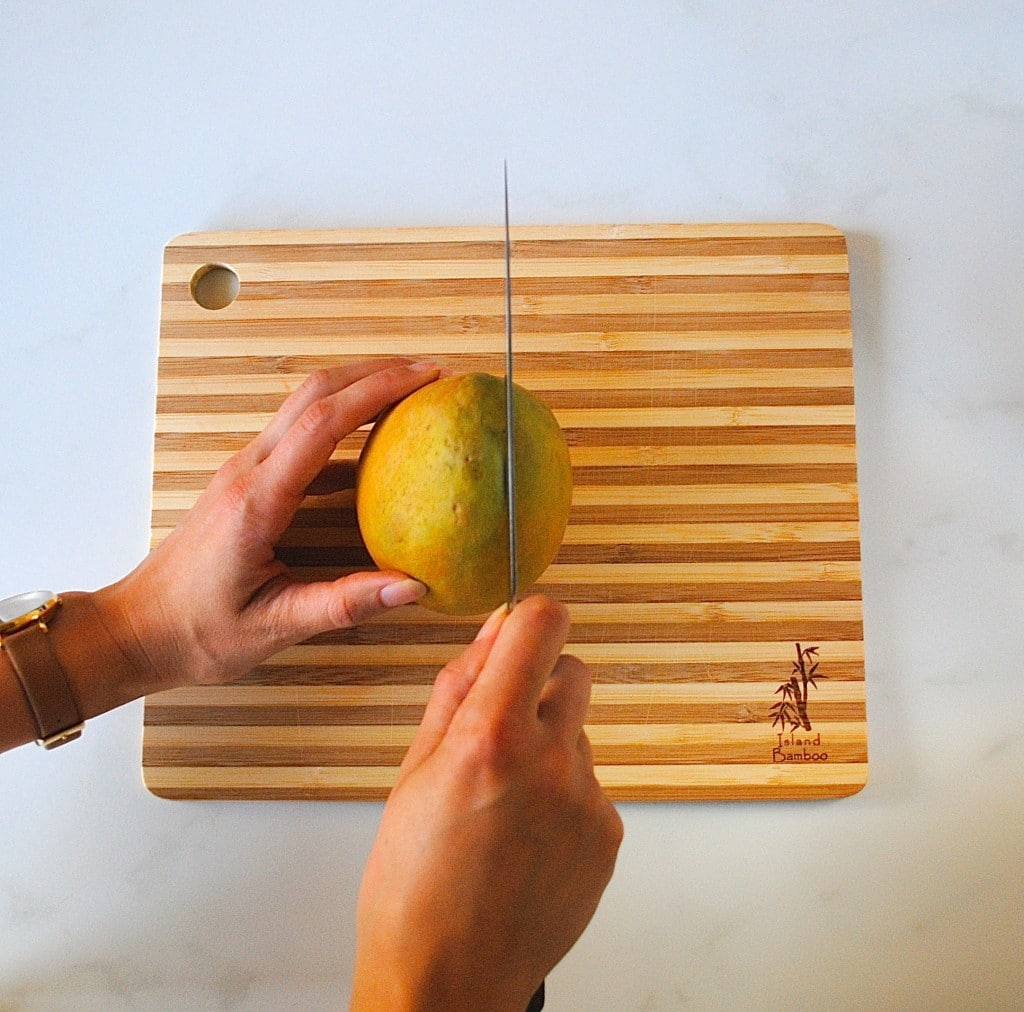 Q: How do I cut a mango?