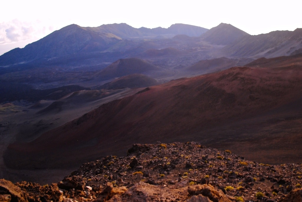 Hiking into the Haleakalā Volcano