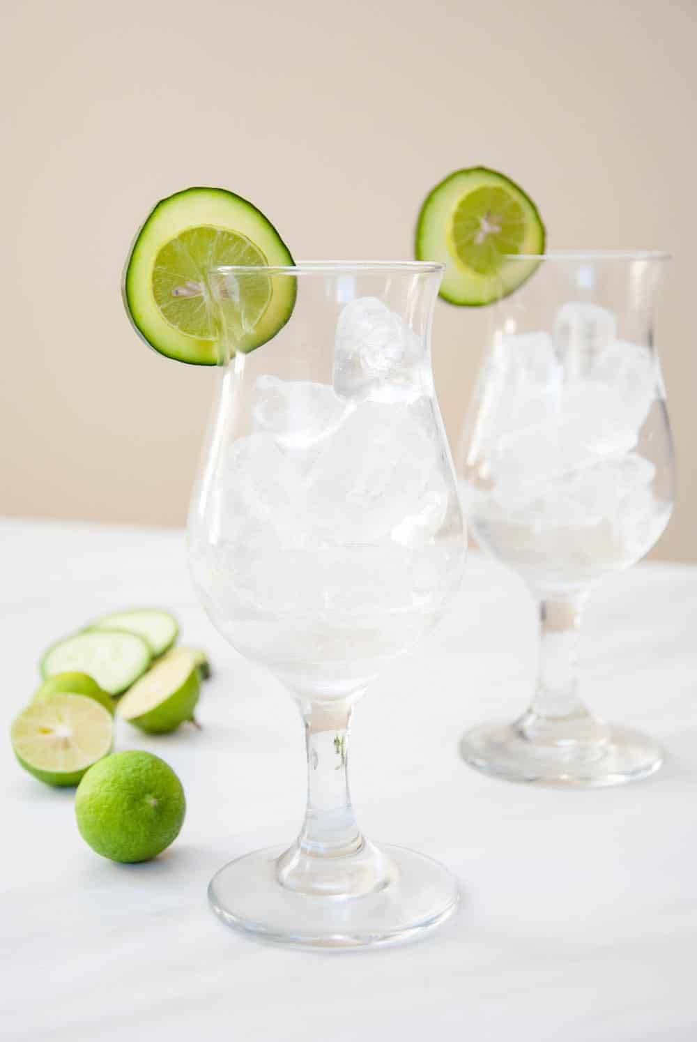Island-Inspired Edible Cocktail Garnish: Cucumber + Key Lime