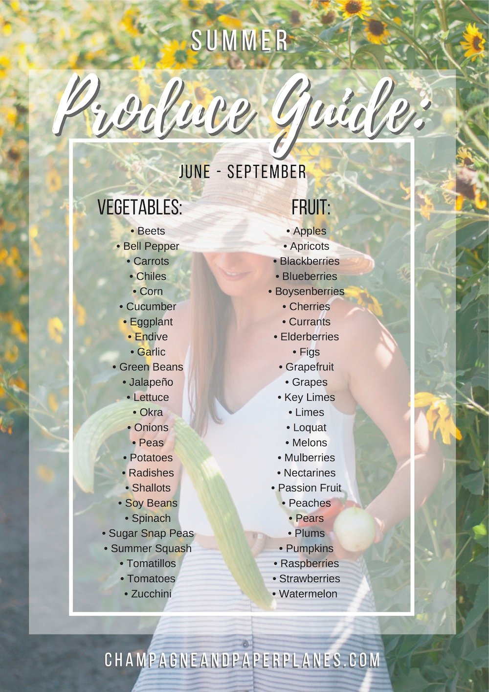 May: what's in season? Fruits and vegetables produce guide.