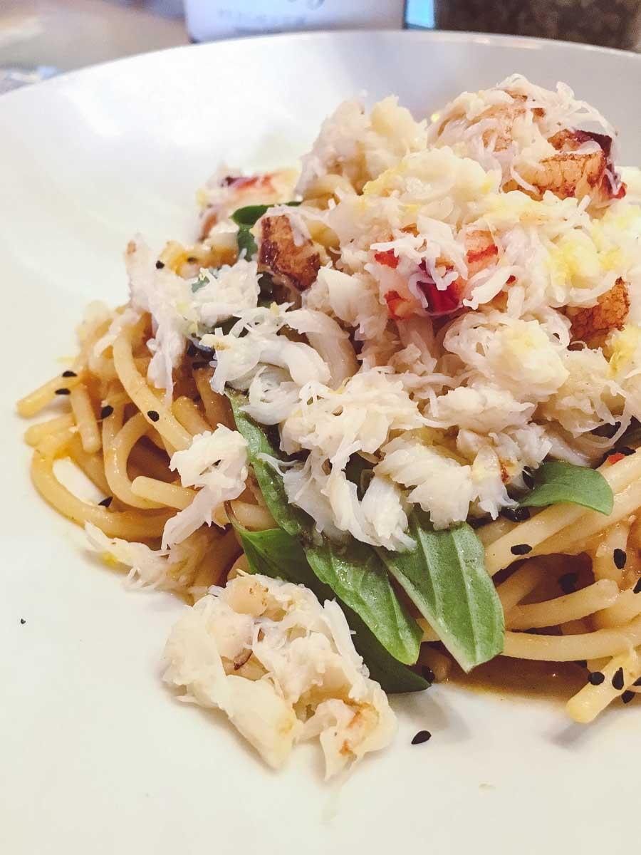 Crab Pasta at Bestia in Downton LA
