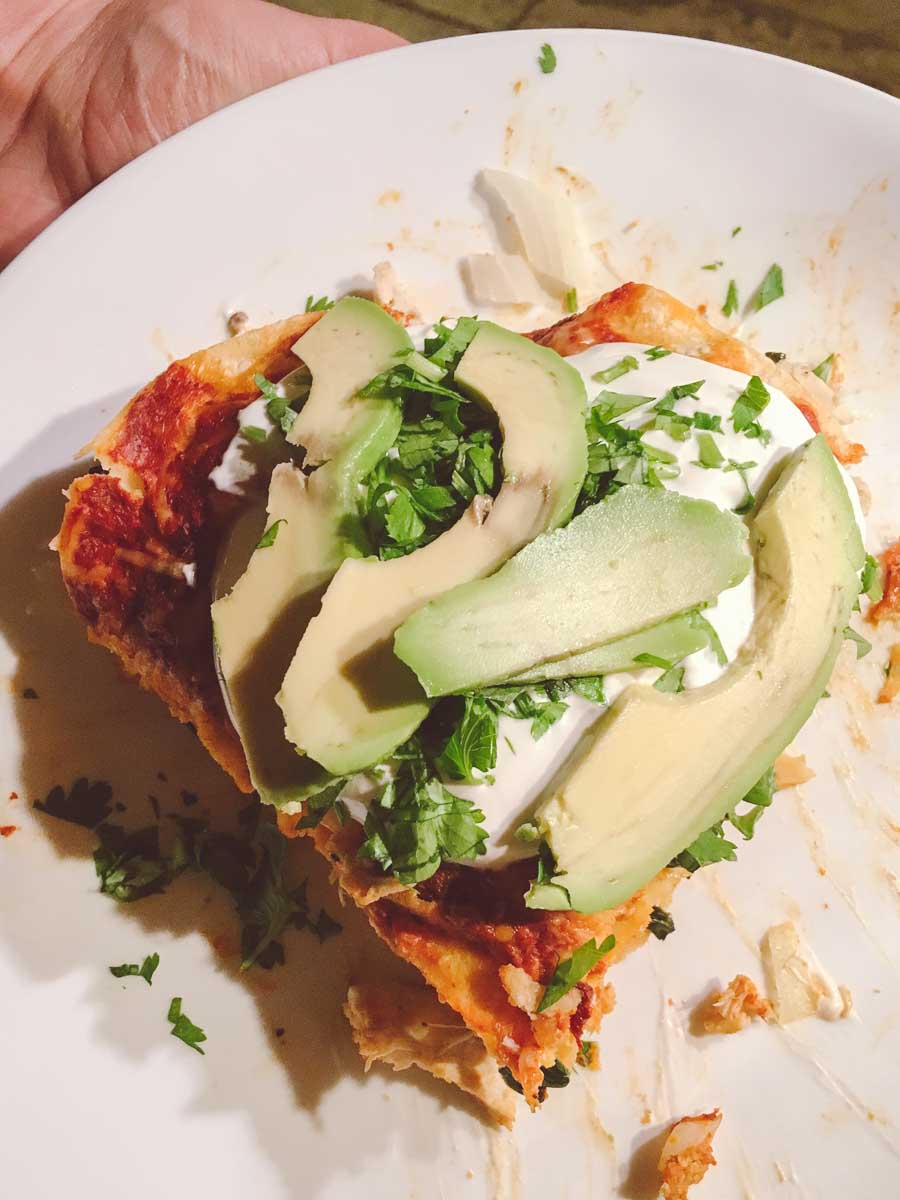 What a dietitian eats in a week - homemade enchilada