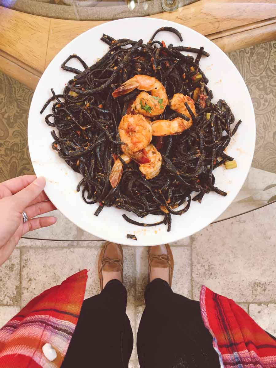 What a dietitian eats in a week - squid ink pasta