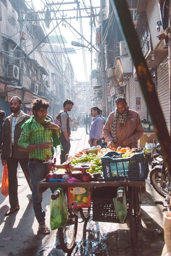 Rickshaw Ride Through Old Delhi, India