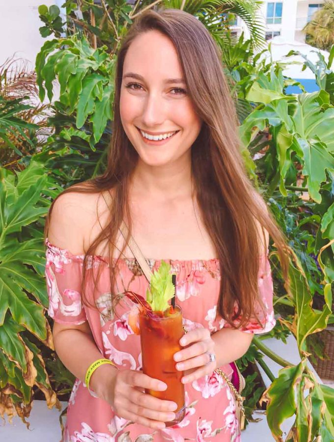 girl holding bloody mary at South Beach Miami Wine and Food Festival