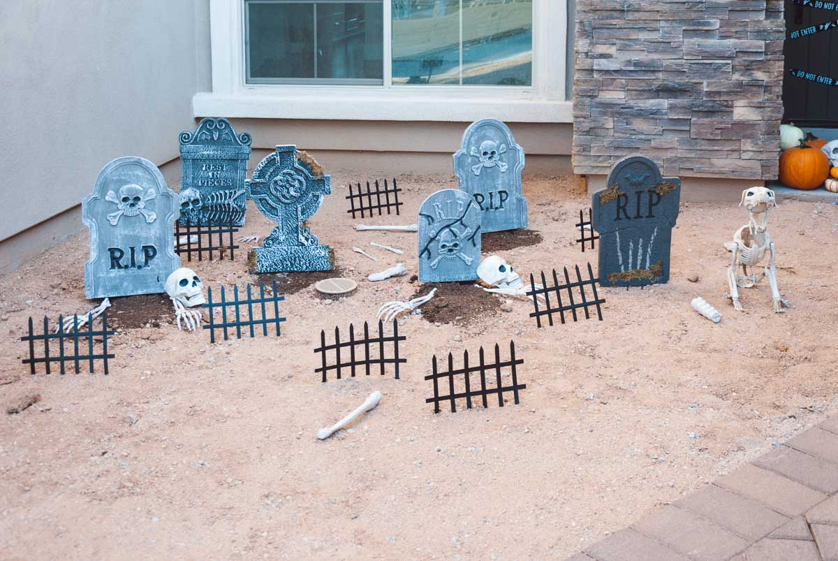 graveyard decorations for halloween